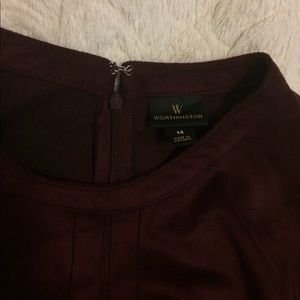 Worthington Burgundy/Maroon Size 14 Dress
